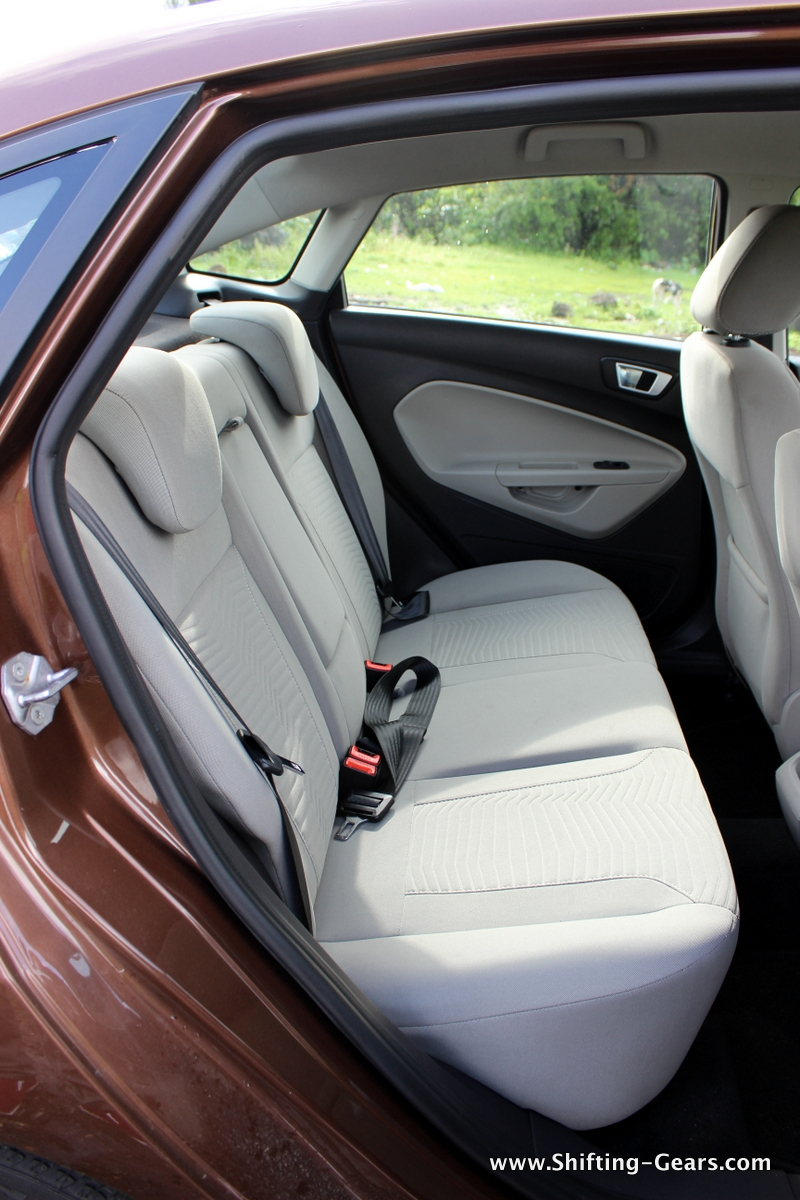 Rear seats have a comfortable recline angle