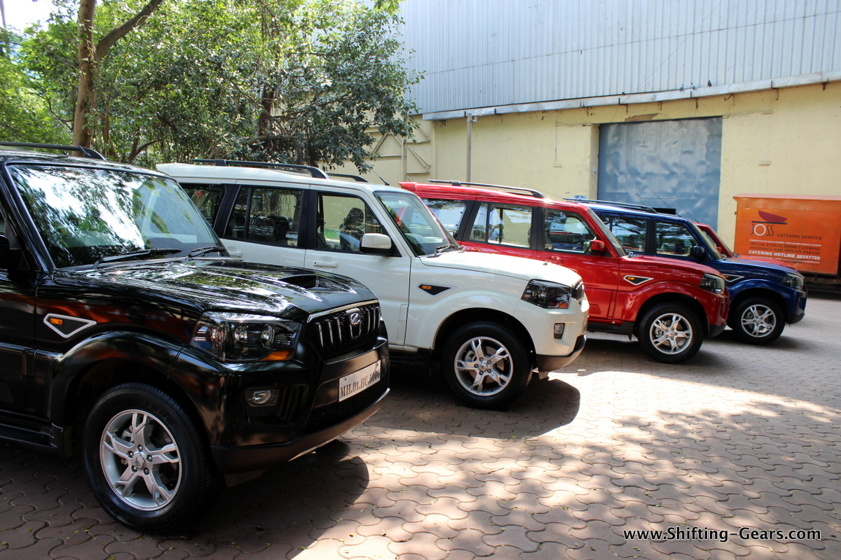 Only a silver Scorpio missing in this frame