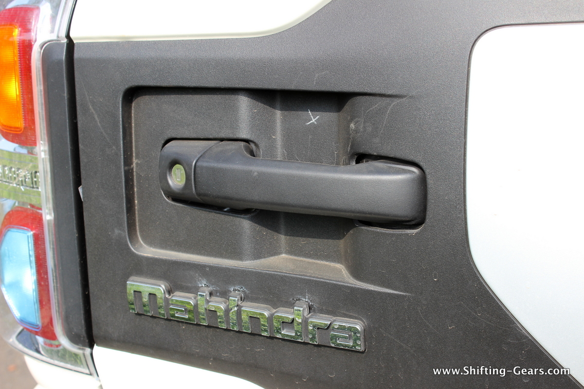 The rear door applique is a dust magnet