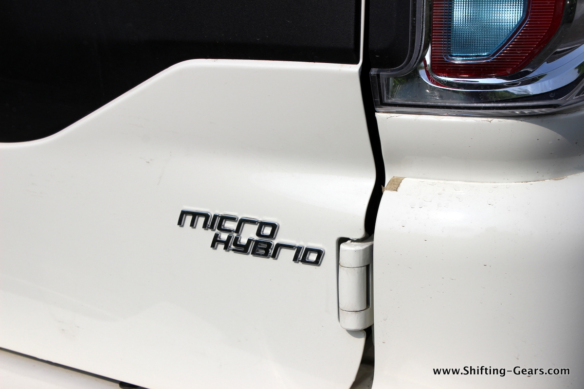 Micro Hybrid badge at the back
