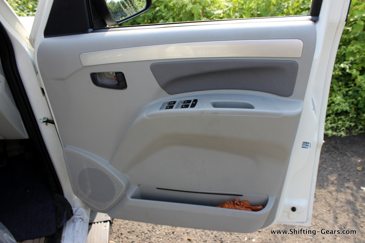 Power window switches moved to the driver door pad