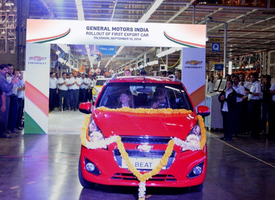 General Motors India rolls out 1st export car