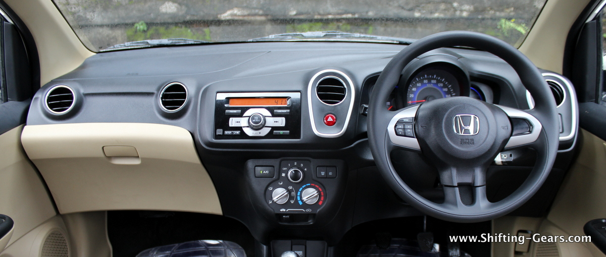 Dashboard is similar to what we see in a Brio, unacceptable on a car which costs a million rupees