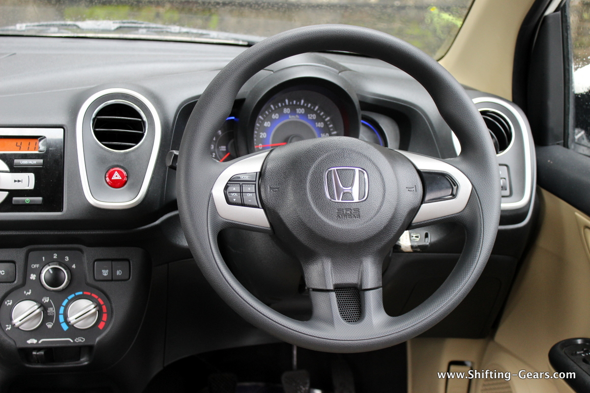 Steering wheel with audio controls is more car like in size and smaller than a few other UVs on sale in India