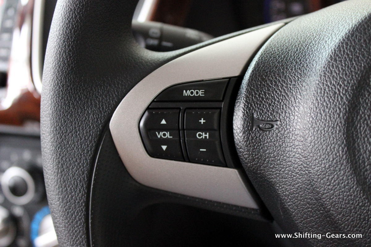 Steering mounted controls are only for audio, the Mobilio does not get bluetooth connectivity
