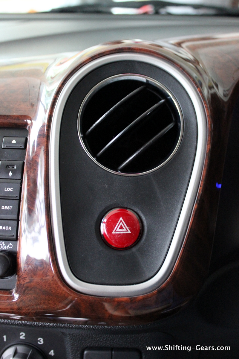 Faux wood trim on the dashboard on the RS variant