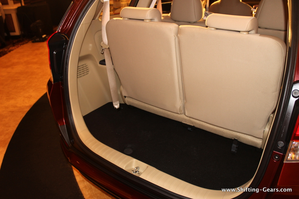 Available boot space with the third row seats in place