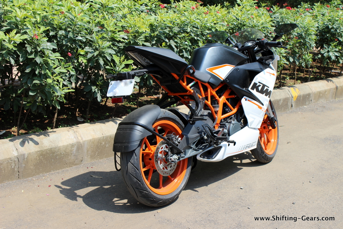 Apart from cosmetic changes, KTM has also revised the trellis frame and claim that it is stiffer on the RC