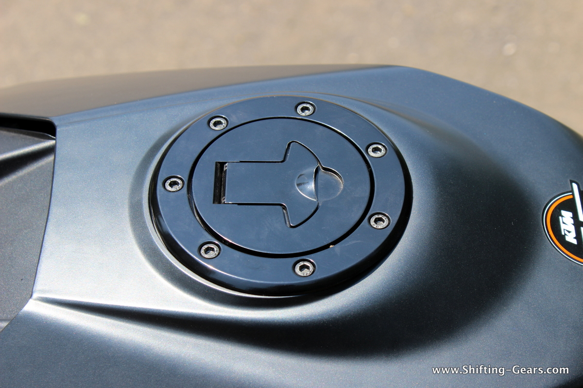 Black finished fuel filler cap