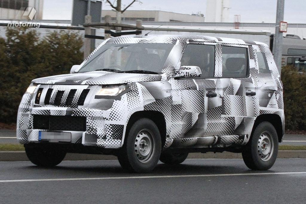 Mahindra Bolero spotted testing in Germany