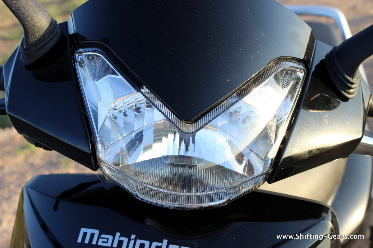 Closer look at the headlamp
