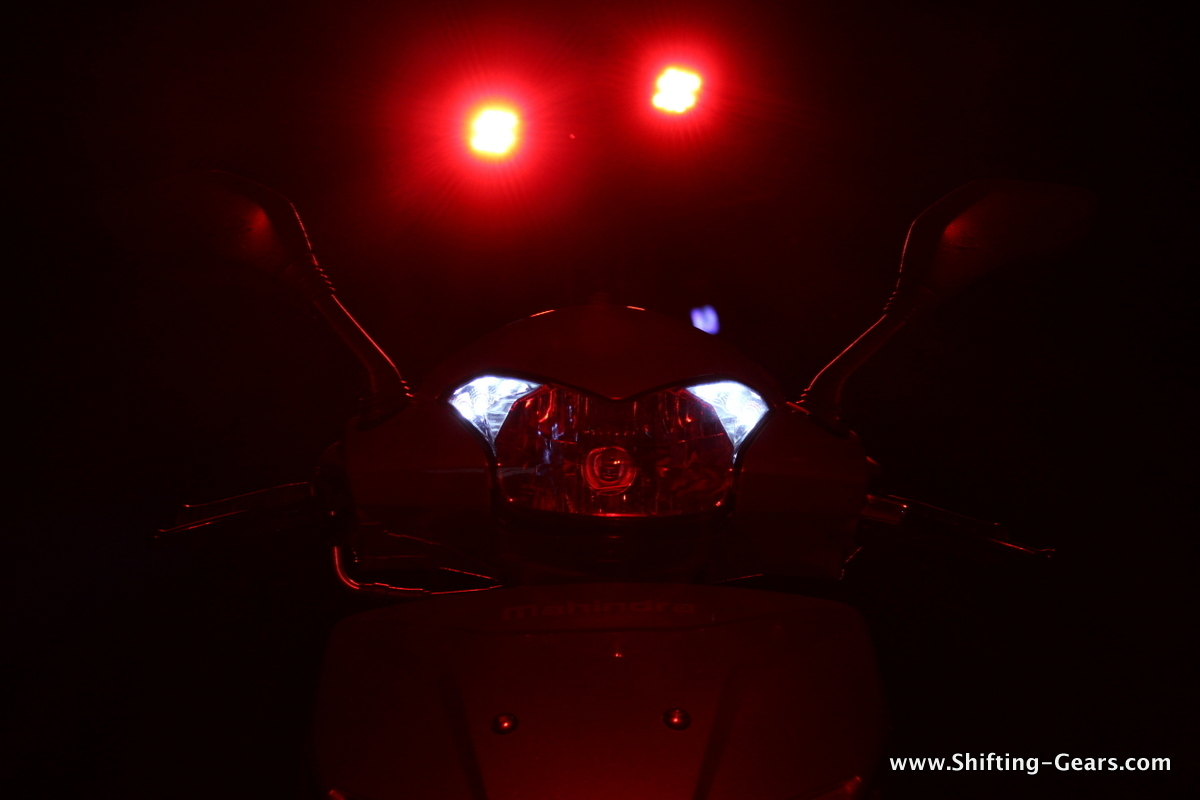 LED pilot lamps at night