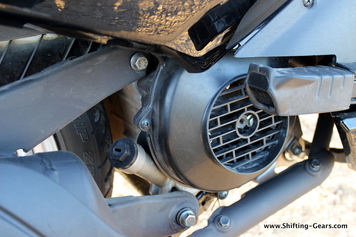 Close look at the new 110cc-class engine