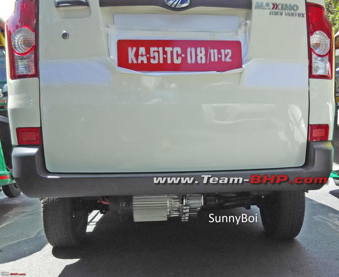 Mahindra Maxximo electric spotted testing