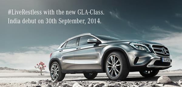 Merceds benz gla class launching on 30th september for Mercedes benz gla class india