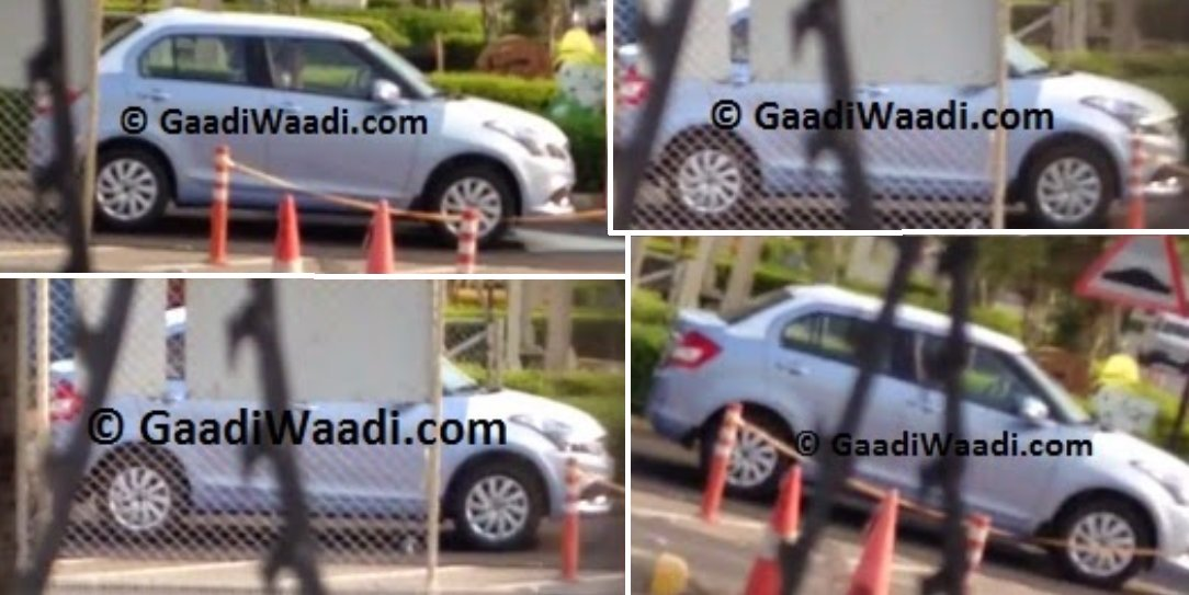 Swift Dzire facelift spotted
