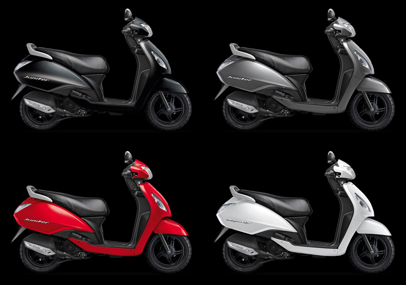 TVS Jupiter gets two new colours