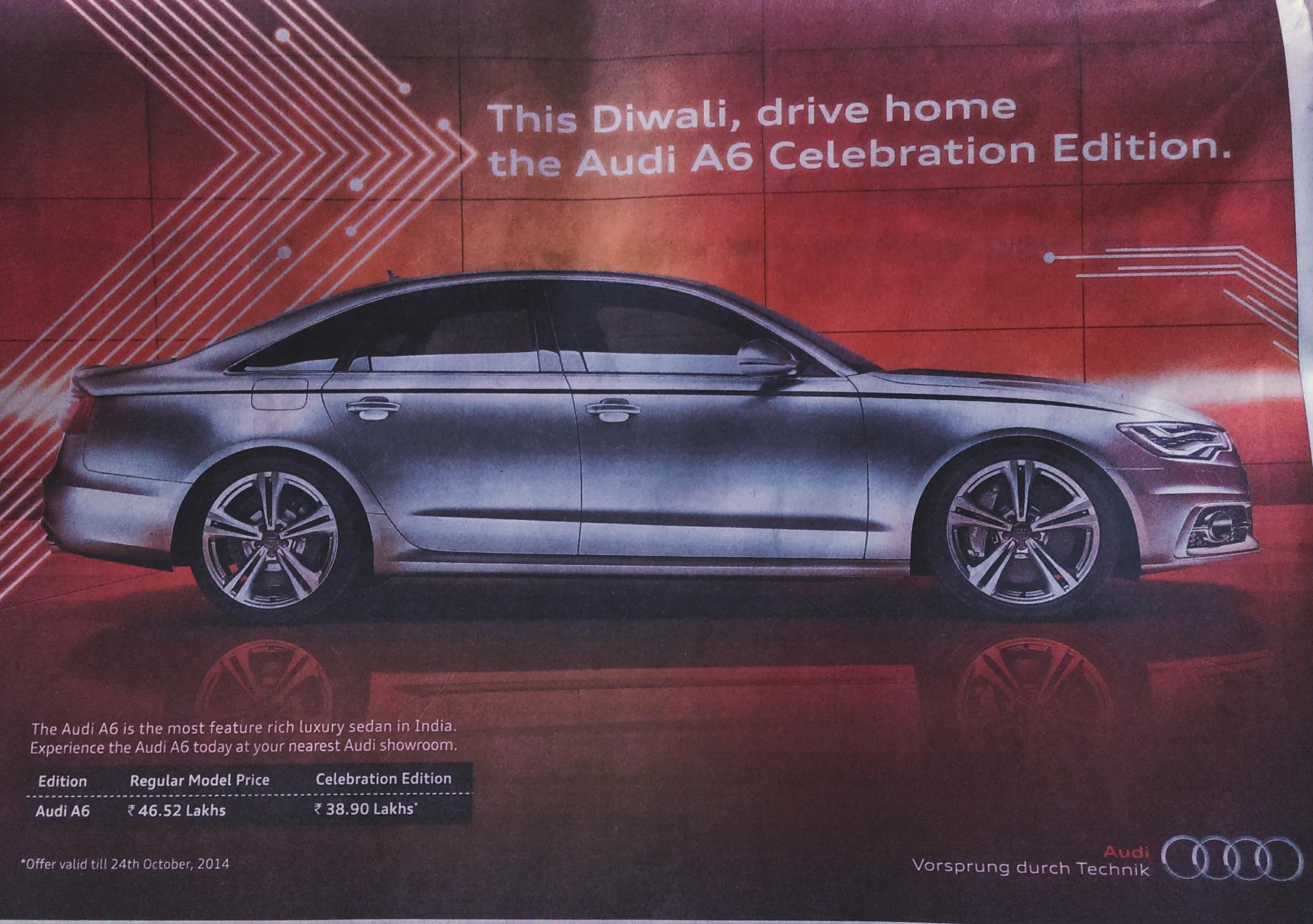 Audi launches A6 celebration edition
