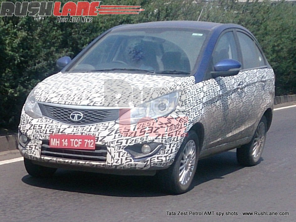 Tata Zest petrol AMT spotted testing