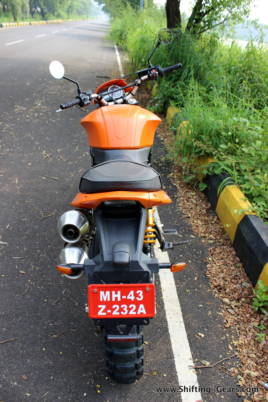 Getting on and off the bike for the rider itself is a far cry, for the pillion, it's even tougher