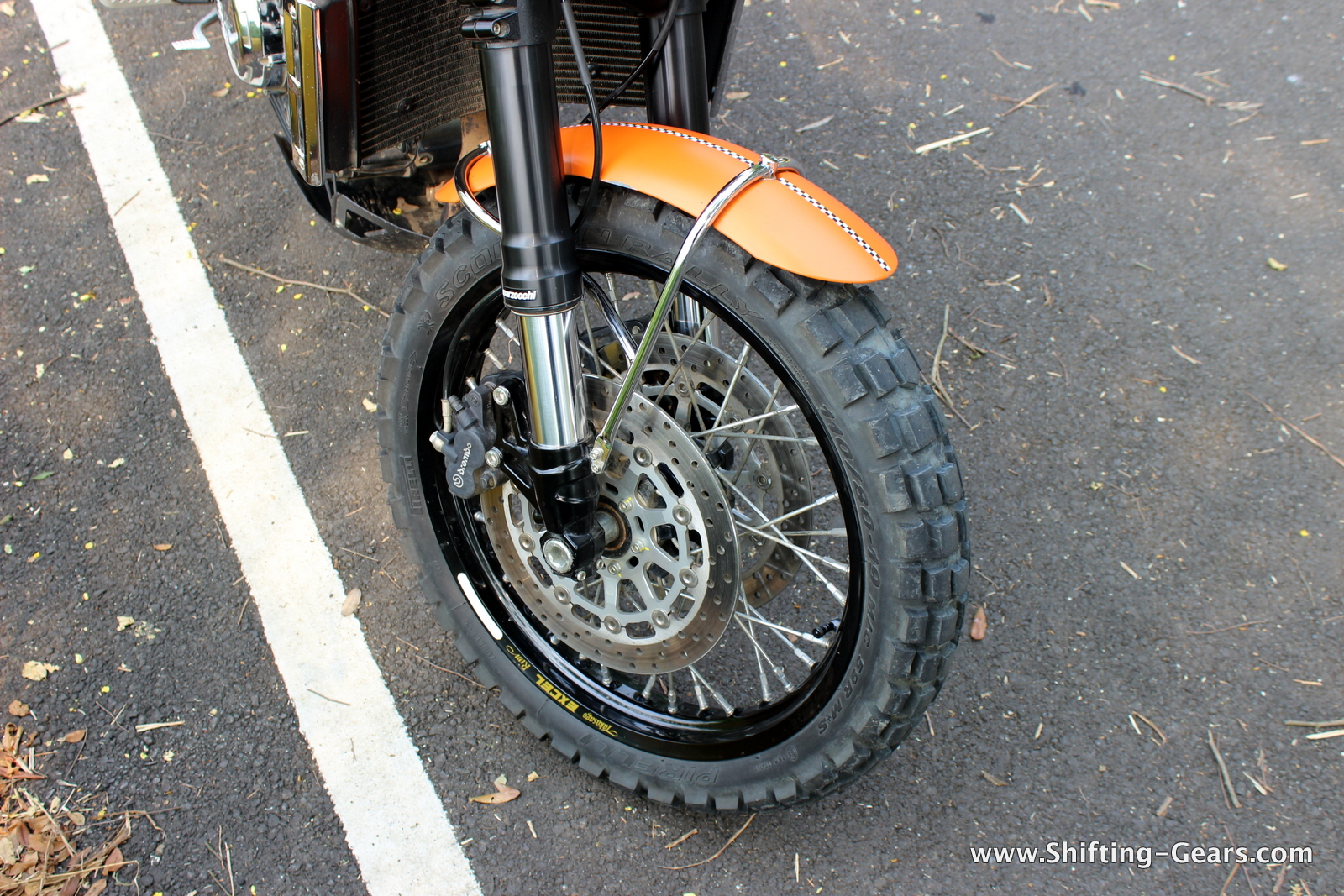 Upside down Marzocchi front forks