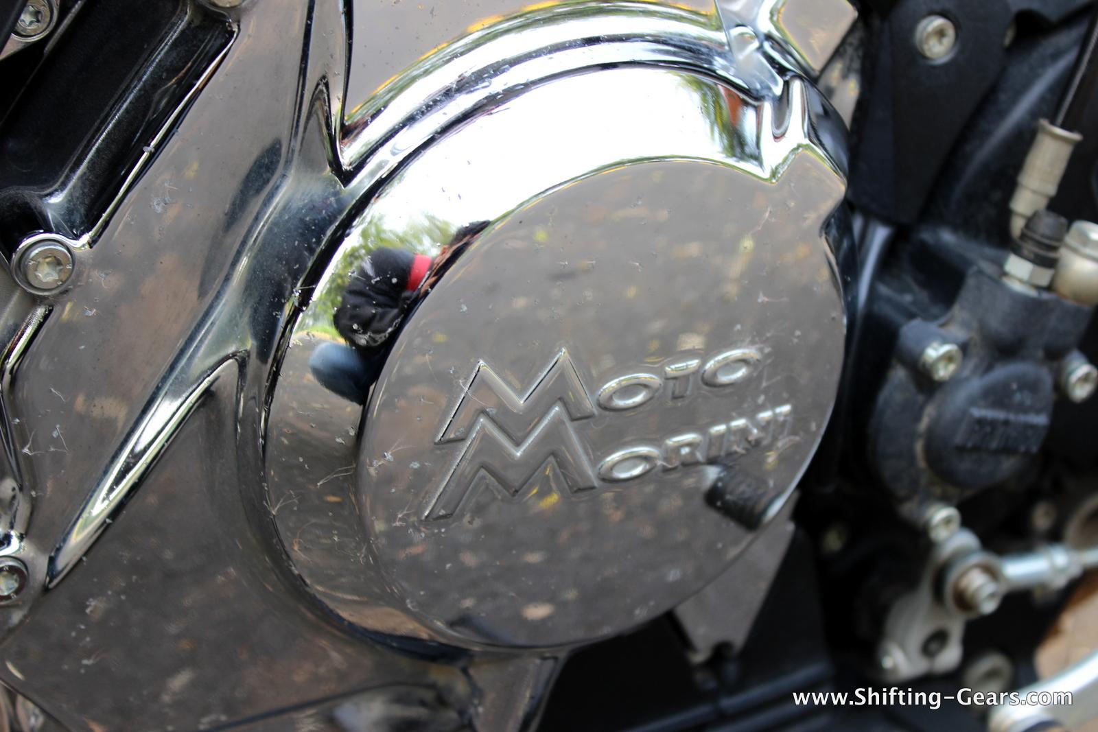 Moto Morini written on the engine case