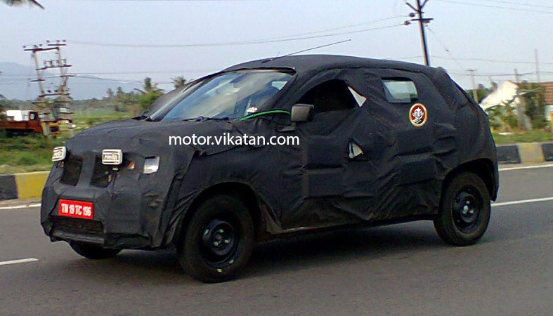 Renault XBA (Alto rival) spotted testing