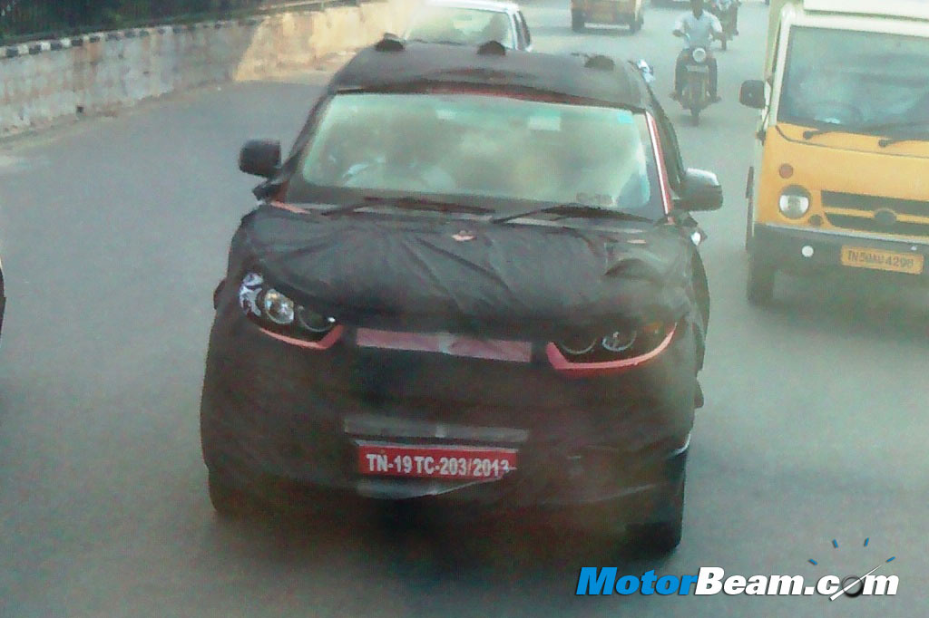 Mahindra S101 interiors snapped