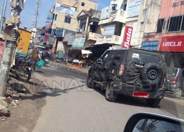 Mahindra U301 spotted testing in Chennai