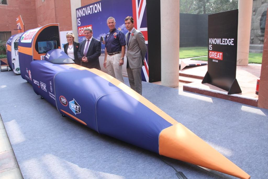 Bloodhound SSC displayed in New Delhi by British Council