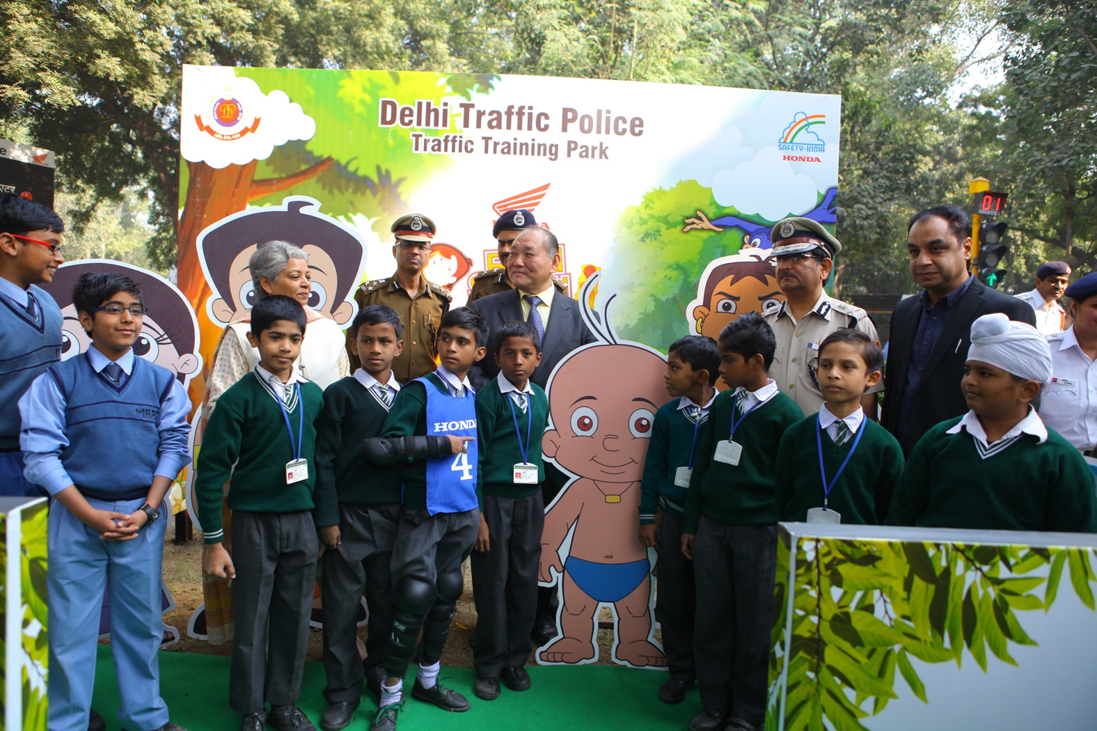 Honda's 2nd traffic park in Delhi promoting road safety