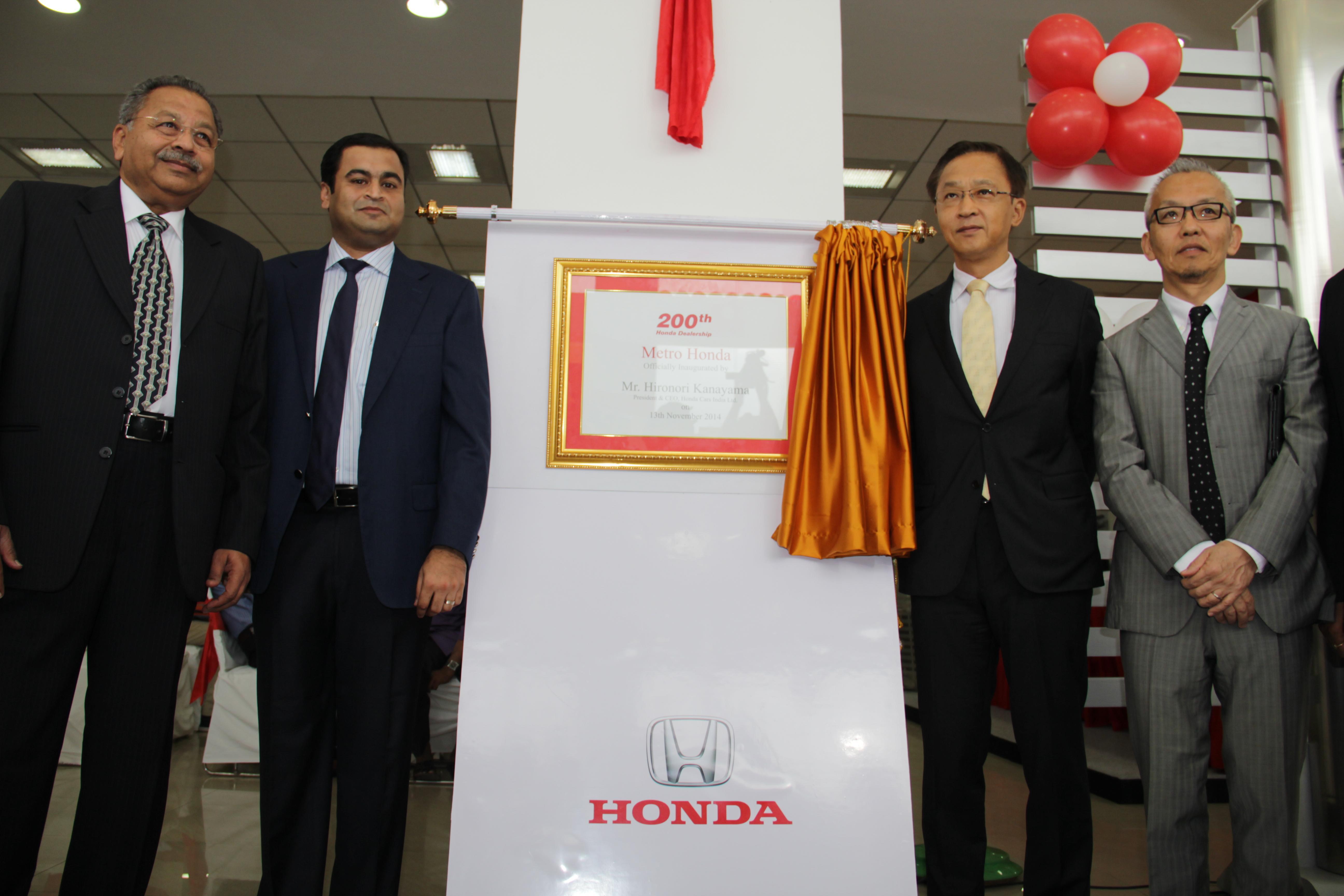 200th dealership for Honda Cars India
