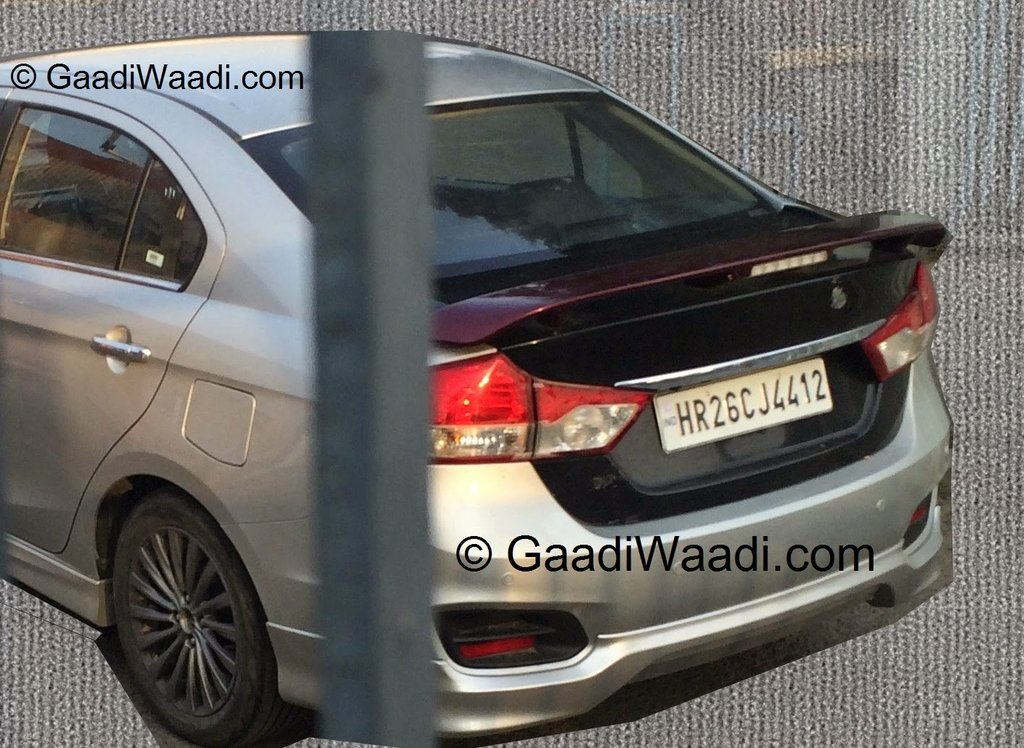 Maruti Suzuki Ciaz with body kit spotted