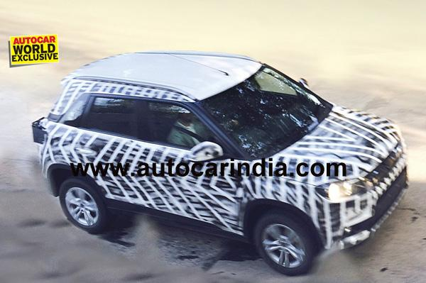 Maruti Suzuki's compact-SUV spotted testing