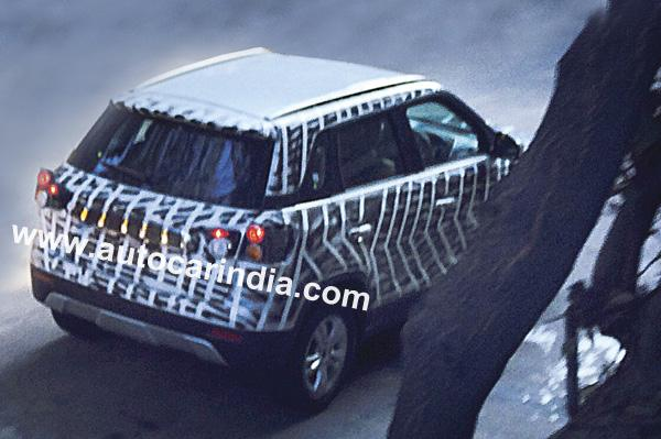 Maruti's YBA compact-SUV reveals its rear profile