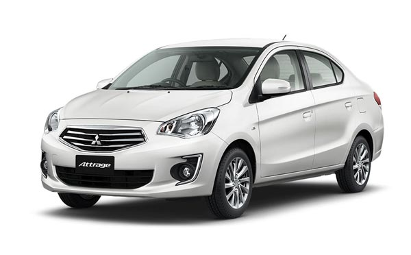 Mitsubishi Attrage sedan and Mirage hatchback in 2016
