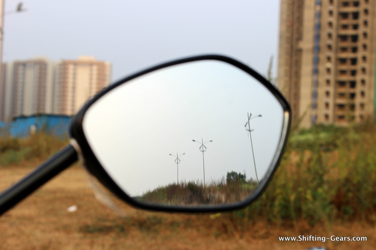 Rear view mirrors fell short of providing a good viewing range