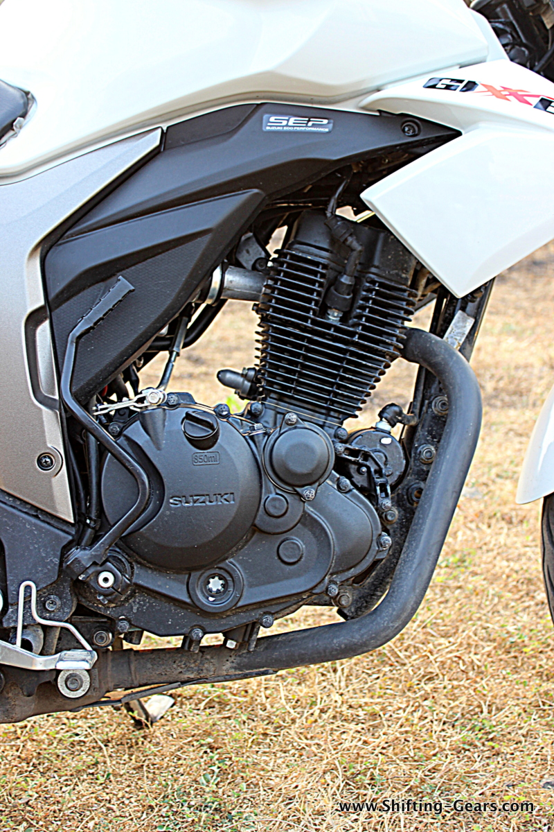 155cc, 4-stroke, single-cylinder, air-cooled, SOHC, 2-valve petrol motor producing 14.6 BHP of power @ 8,000 RPM and 14 Nm of torque @ 6,000 RPM