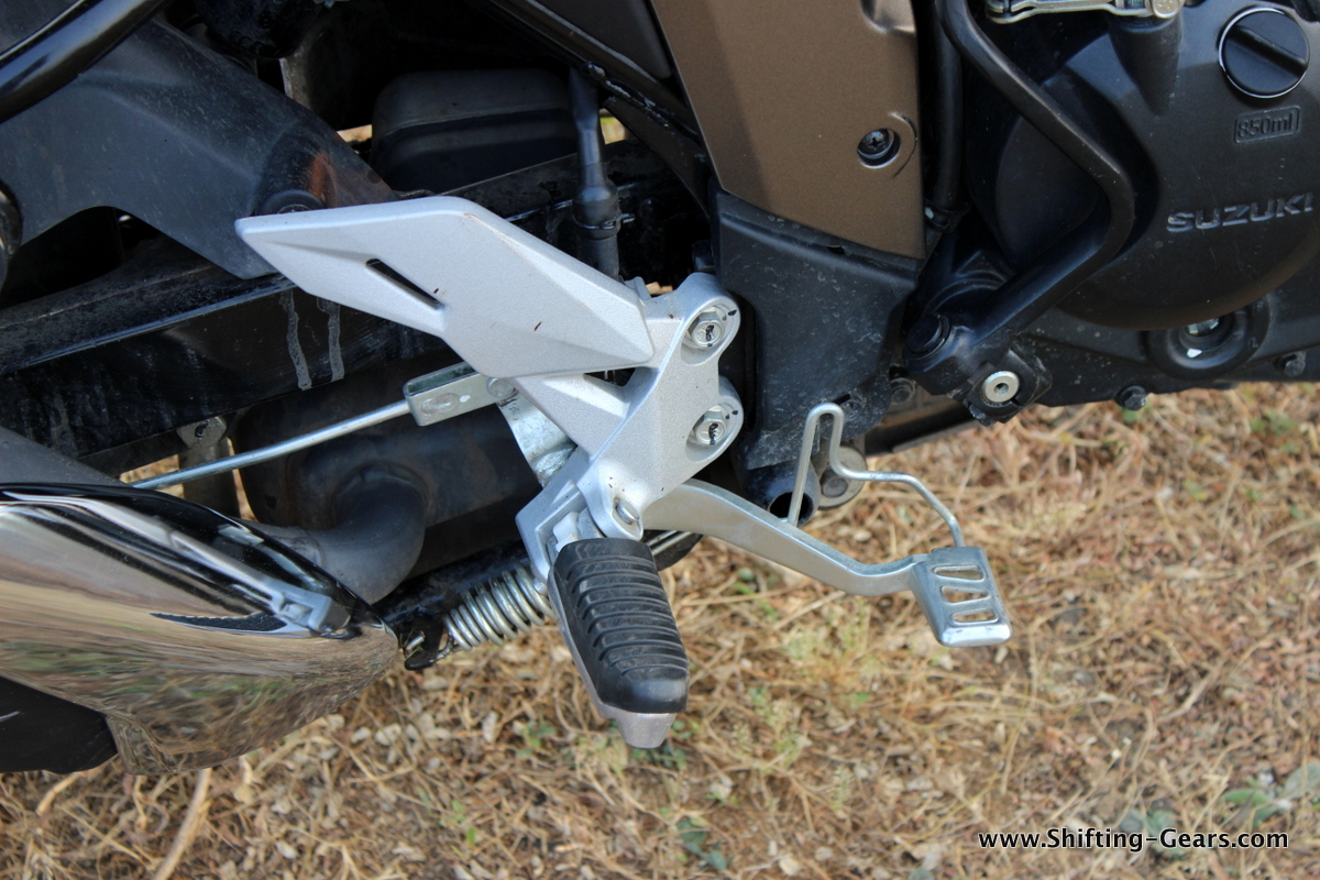Rear set footpegs and the brake lever