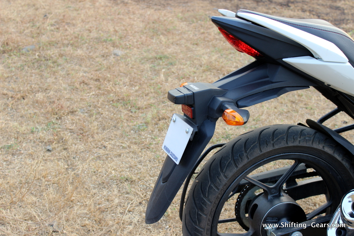 Rear mudguard gets an extension for monsoon rides