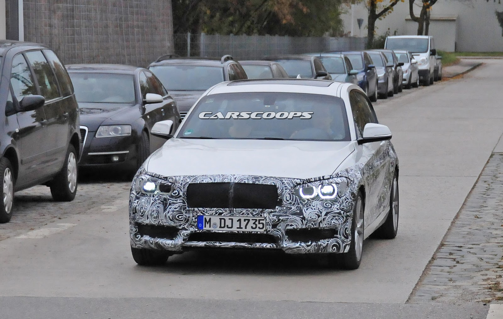 2015 BMW 1 Series facelift spotted testing