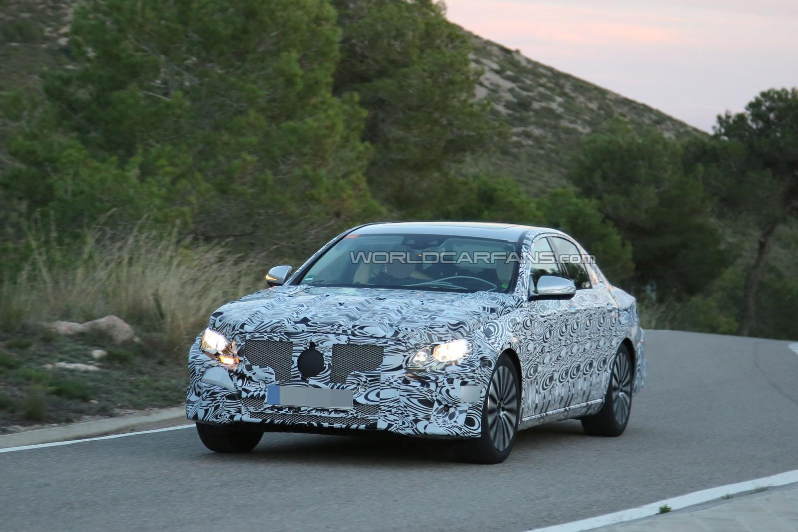 Next-generation 2016 Mercedes-Benz E-Class spotted testing