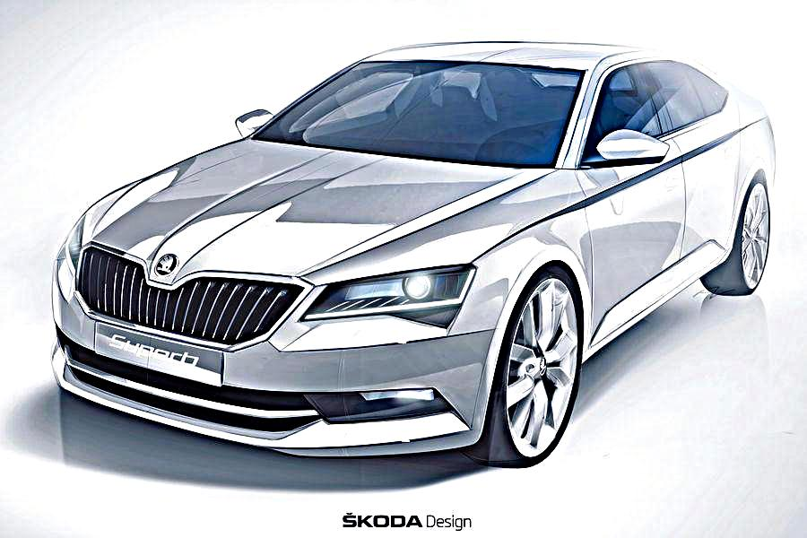 2016 Skoda Superb official sketch revealed