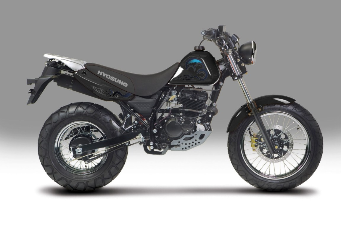 Scoop! 250cc engine for the Hyosung RT125D being planned