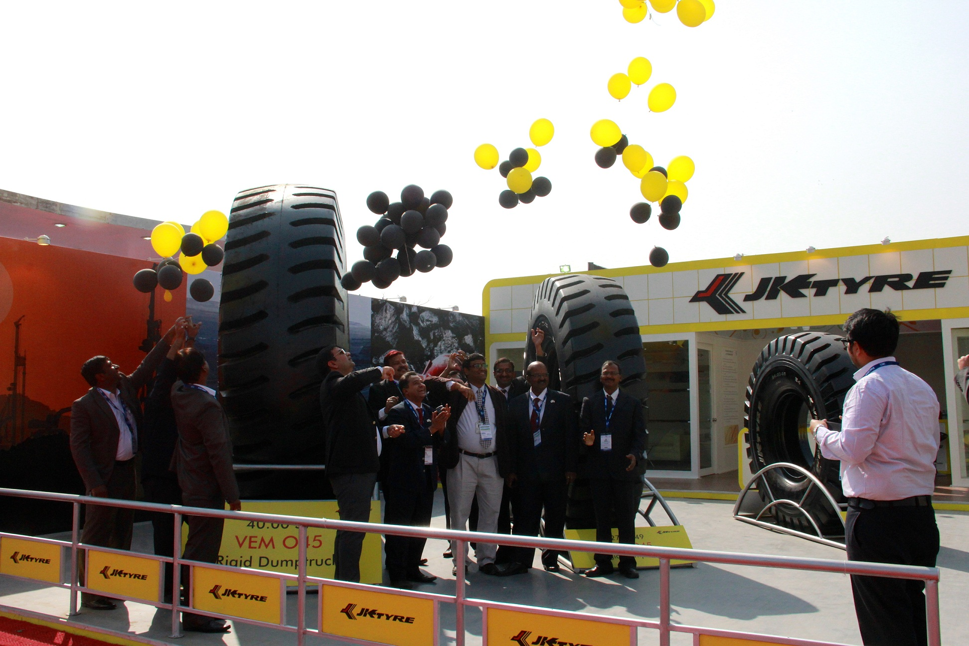 JK Tyre reveals a 3.7 tonne tyre, largest in India