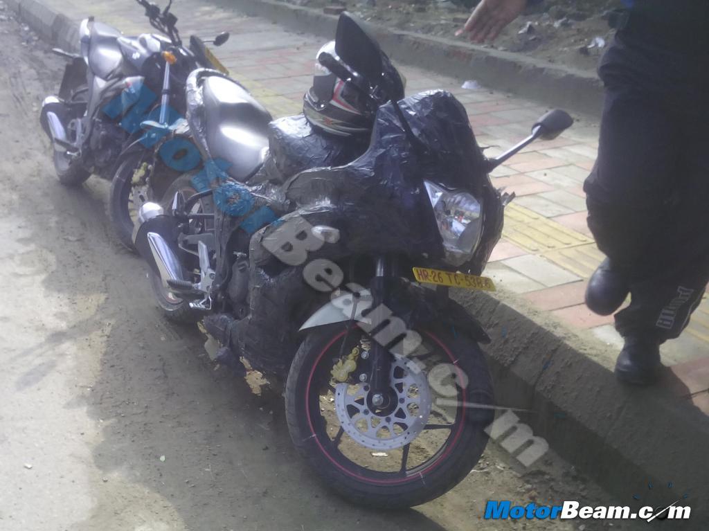 Fully faired 155cc Suzuki Gixxer spotted testing