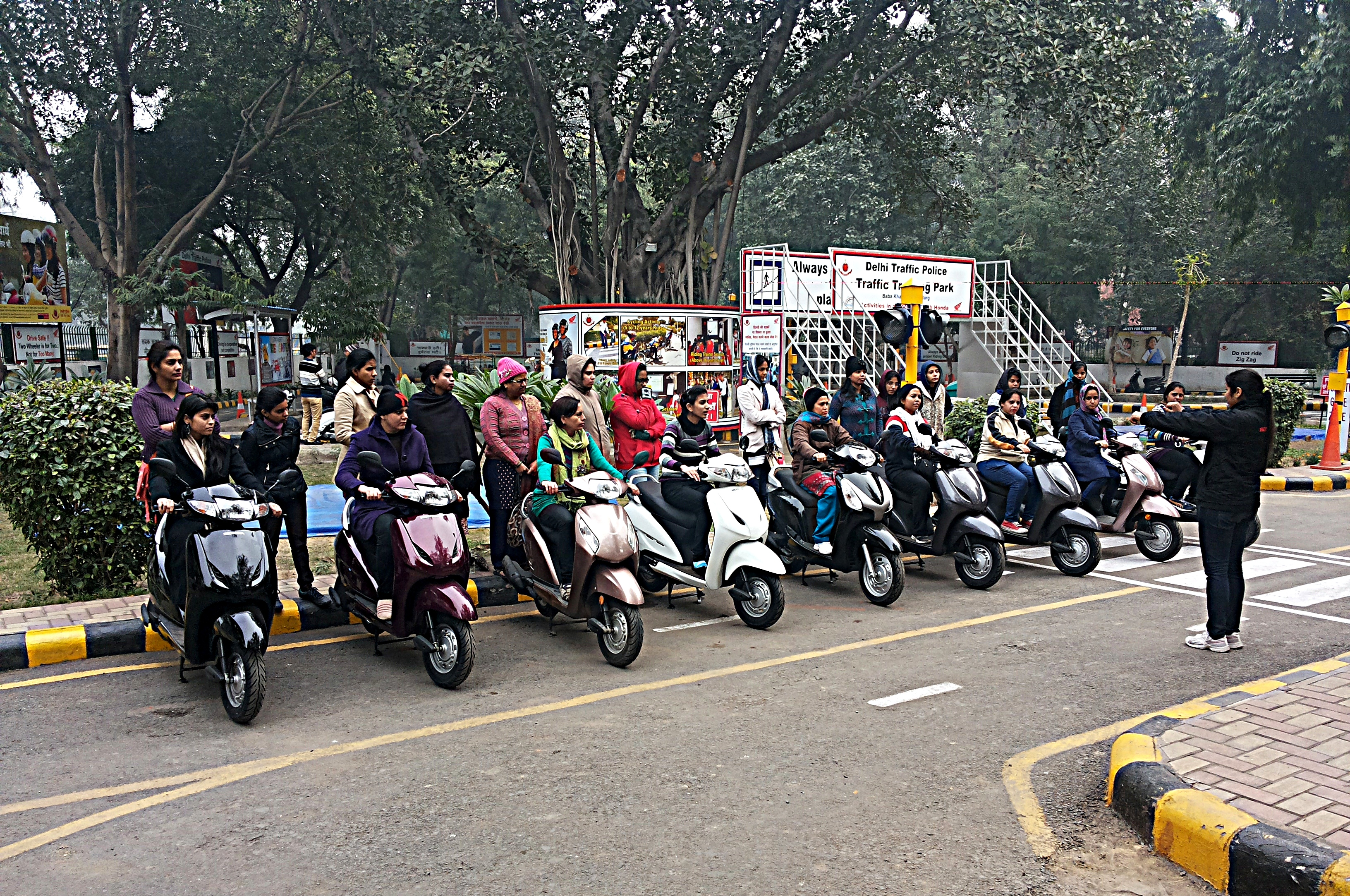 Honda 'Dream Riding' for women in Delhi