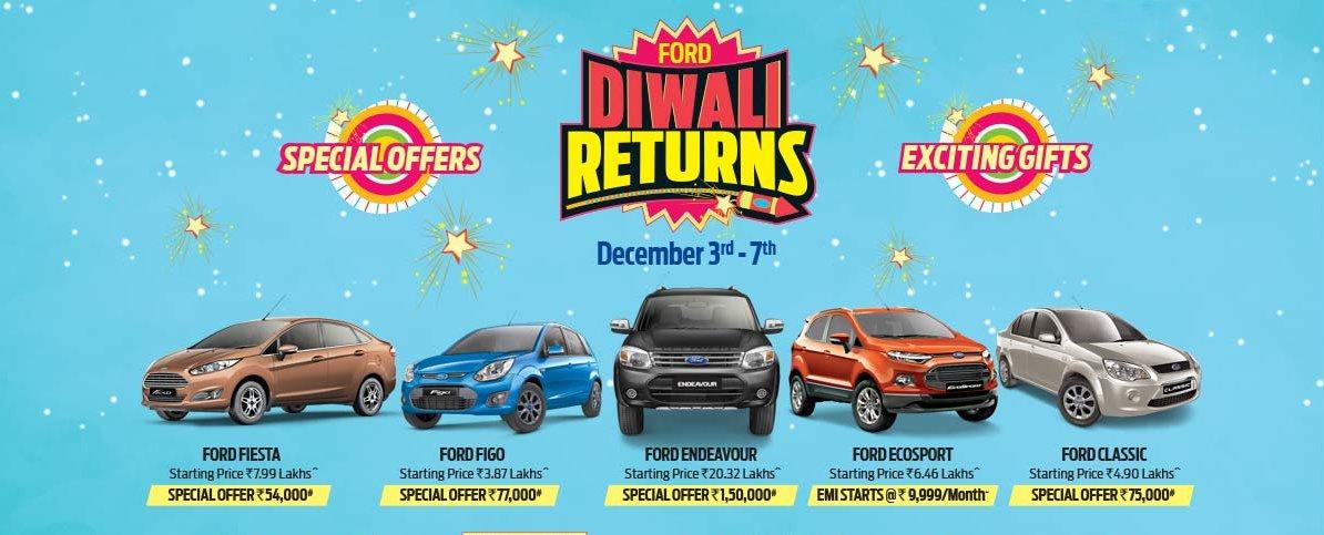 Ford India's 'Diwali Returns' offer