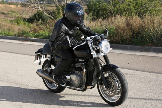 Triumph Street Tracker cafe racer spotted testing
