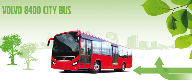 80 new Volvo 8400 city buses for Hyderabad